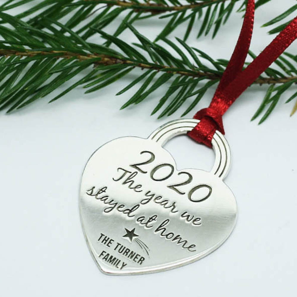 Limited Edition Handmade Sterling Silver, Personalised 2020 Christmas Tree Decoration