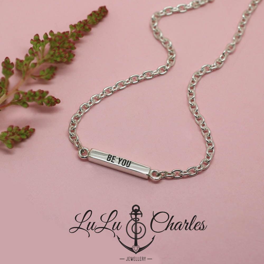 Handmade Sterling Silver Affirmation Bar Bracelet