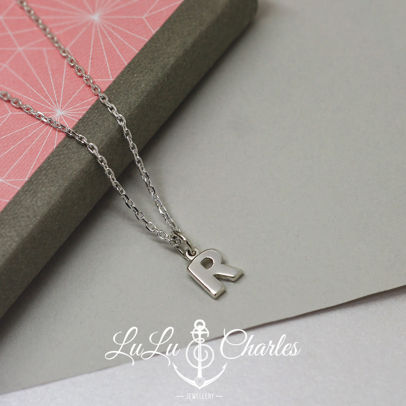 Handmade Sterling Silver Chunky Initial Necklace