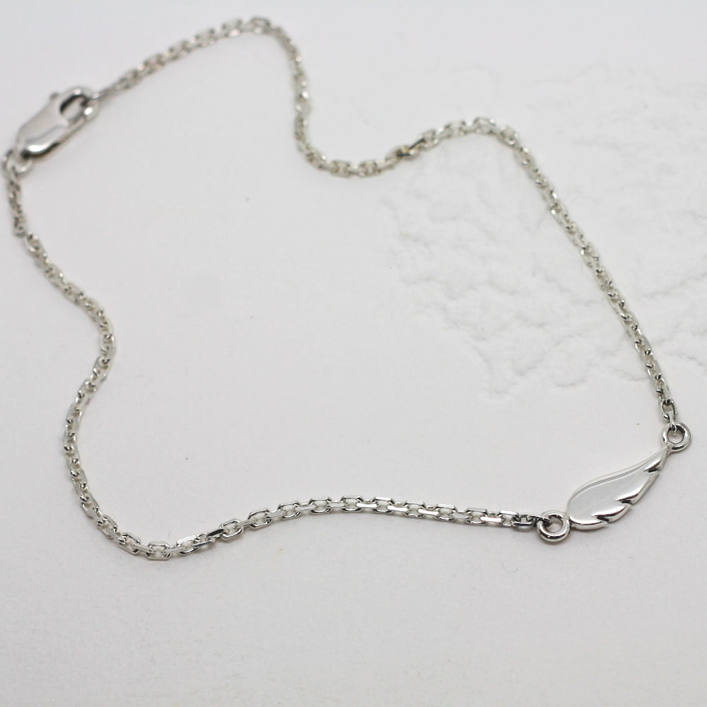Handmade Silver Angel Wing Ankle Chain
