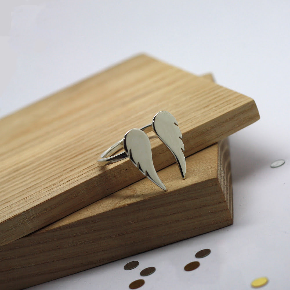 Angel Wing Ring, Handmade in Sterling Silver