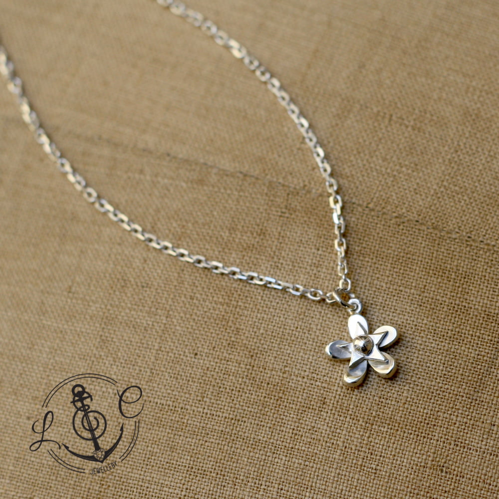 Forget-me-not Ankle Chain Handmade in Sterling Silver