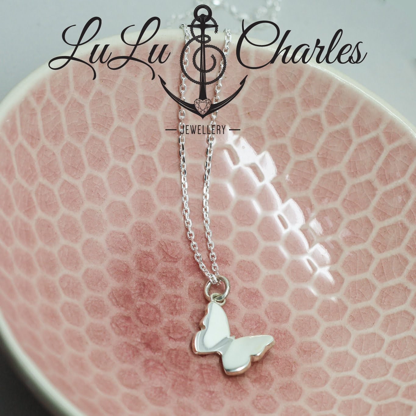 Handmade Sterling Silver Butterfly Cremation Necklace