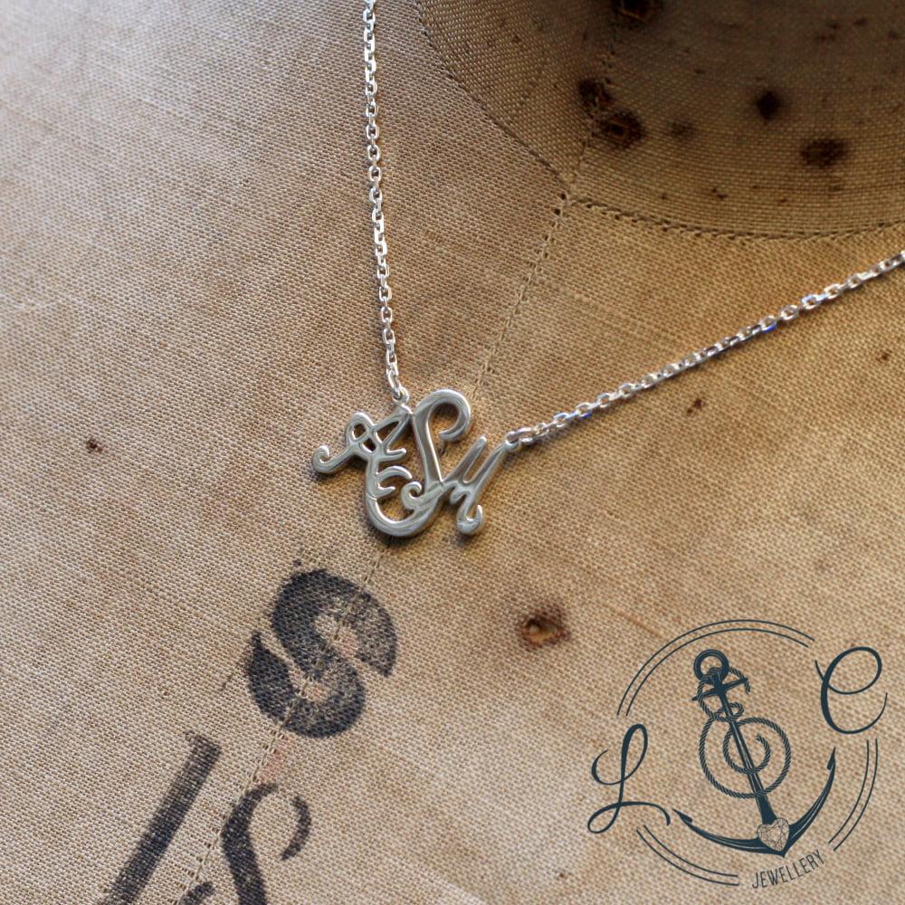 Handmade Silver Family Monogram Necklace