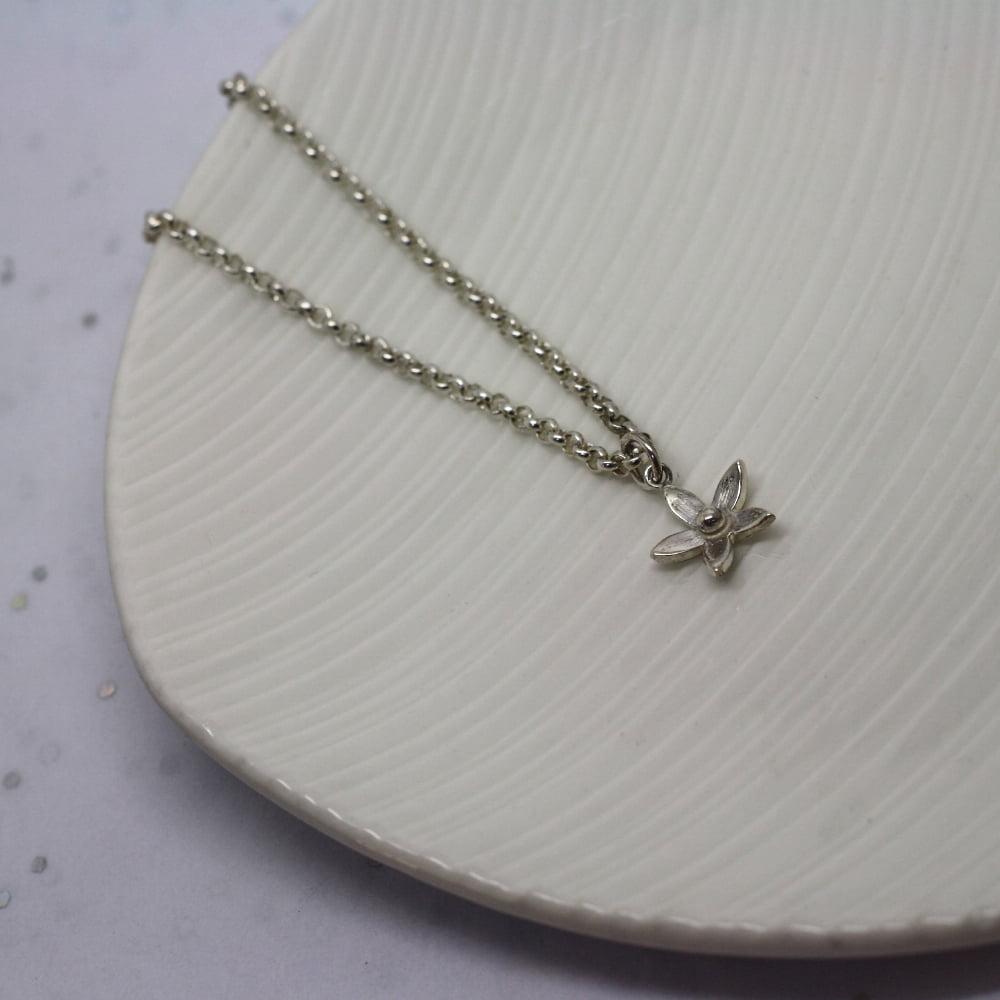 Handmade Silver Jasmine Flower Bracelet