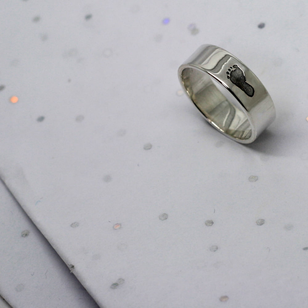Handmade Silver Footprint Ring