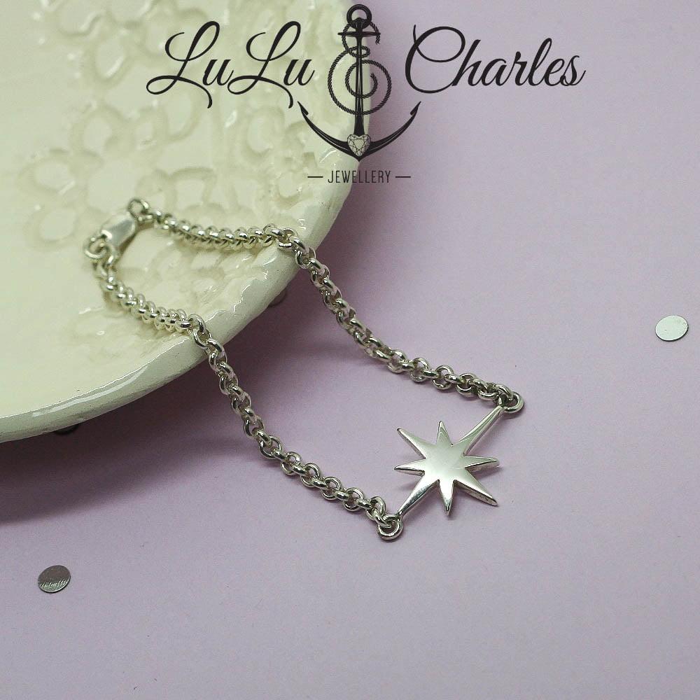 Handmade Sterling Silver North Star Bracelet
