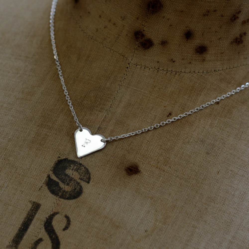 Sweetheart Necklace, Handmade in Sterling Silver