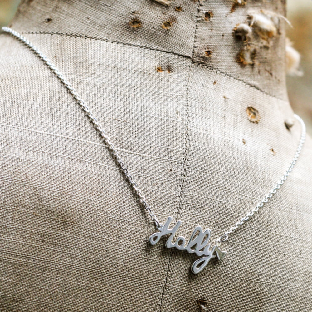 Personalised Silver Name Necklace