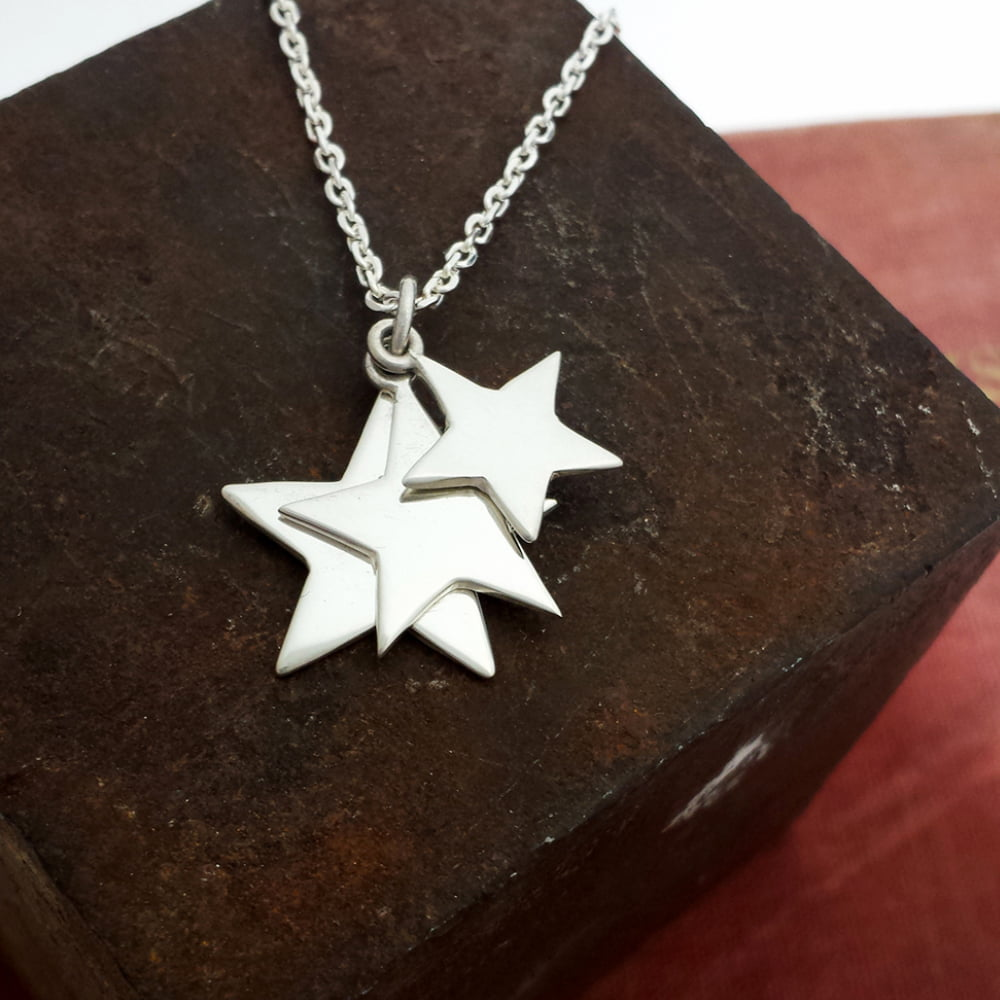 Personalised Star Necklace, Handmade in Sterling Silver