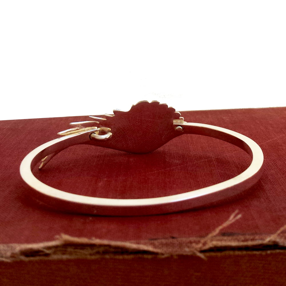 Angel Wing Bangle, Handmade in Sterling Silver