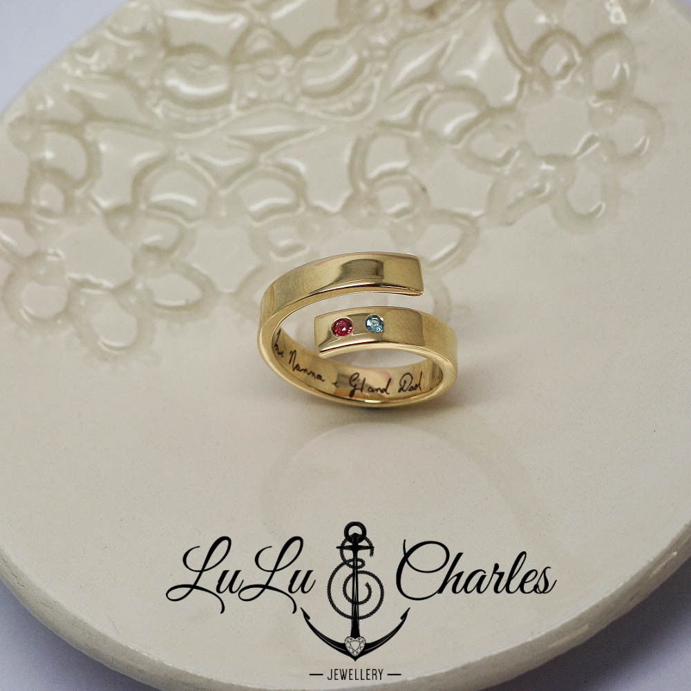 handmade-ladies-Memorial-ring-remodelled-from-own-gold-uk