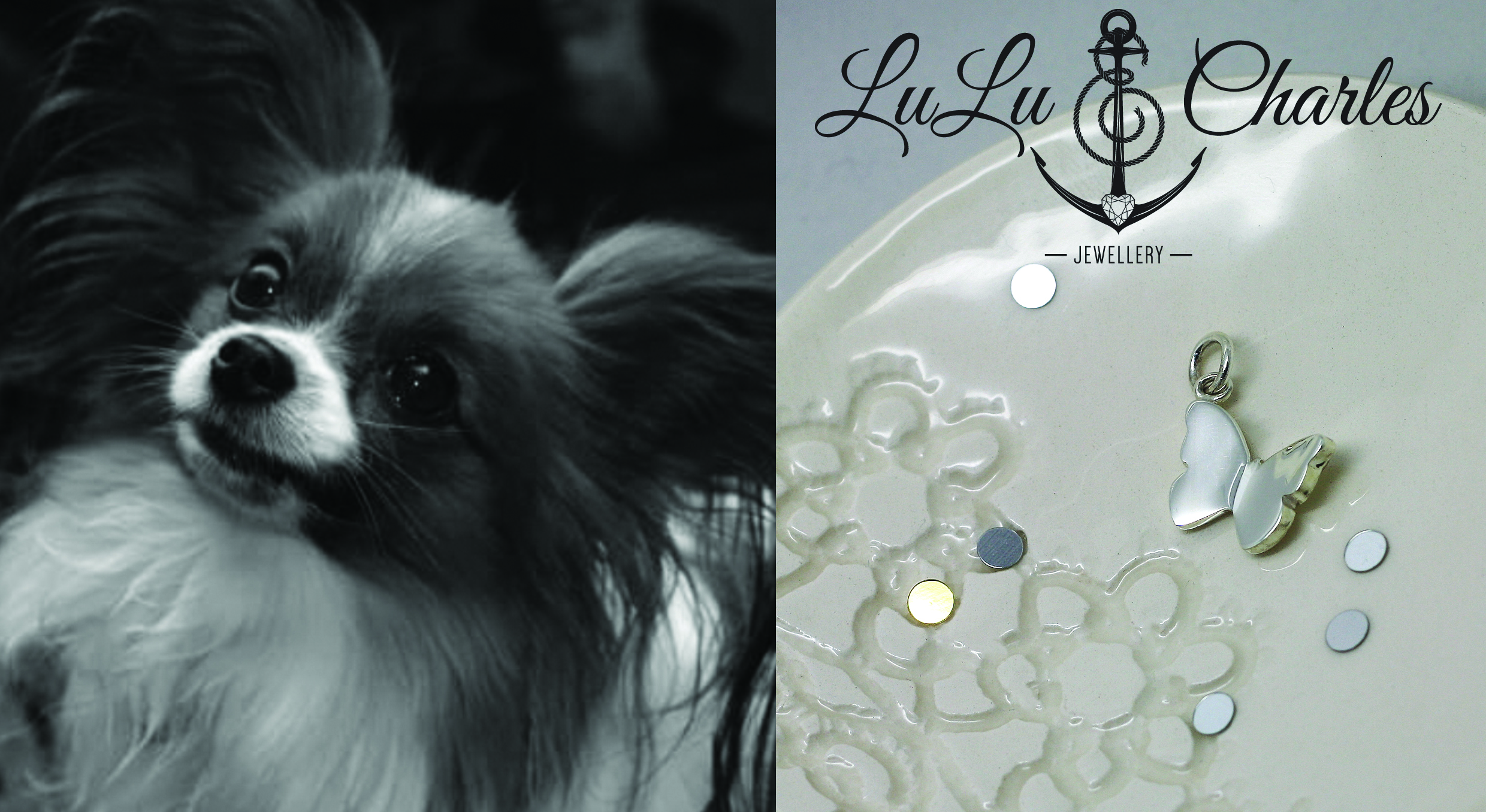 Handmade Bespoke Sterling Silver Pet Memorial Necklace, contacting cremation ashes by lulu charles jewellery uk