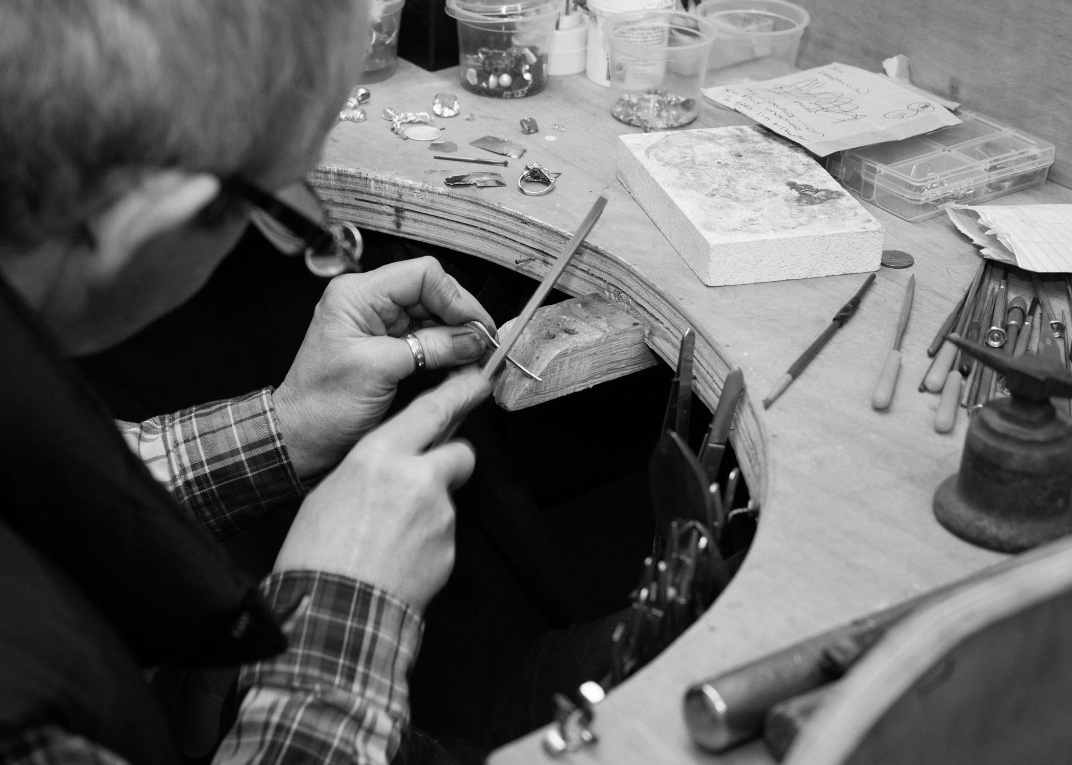 Handmade Bespoke Jewellery by LuLu & Charles, behind the scenes.