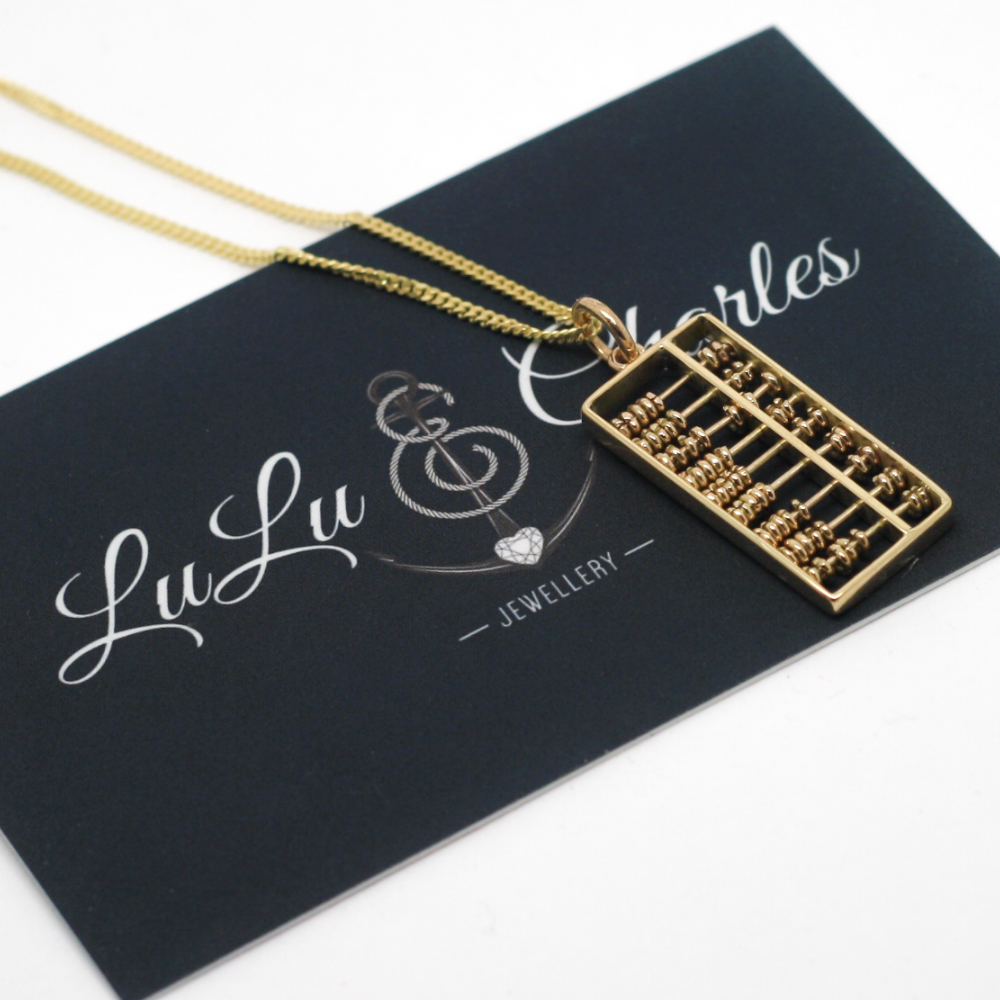 9ct-Gold-Handmad-Bespoke-Jewellery-By-LuLu-Charles-Jewellery-9ct-Gold-Abacus-Pendent-Remodelled-usinf-old-gold-jewellery