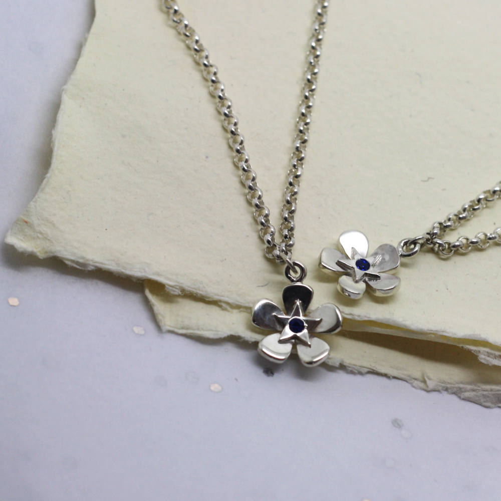 Handmade-Sterling-Silver-Forget-Me-Not-Jewellery-UK