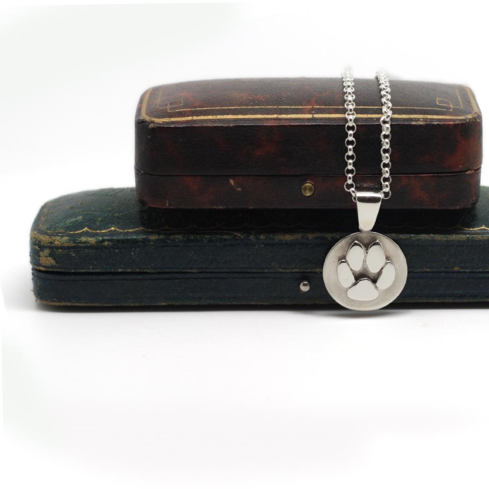 personalised handmade silver pet memorial jewellery, handmade by LuLu & Charles Jewellery UK