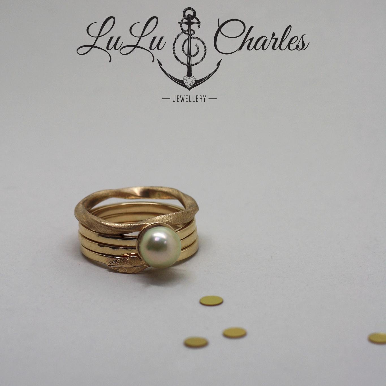 Bespoke Handmade Memorial stacker Rings, remodelled from sentimental gold jewellery newcastle, consett, county durham uk