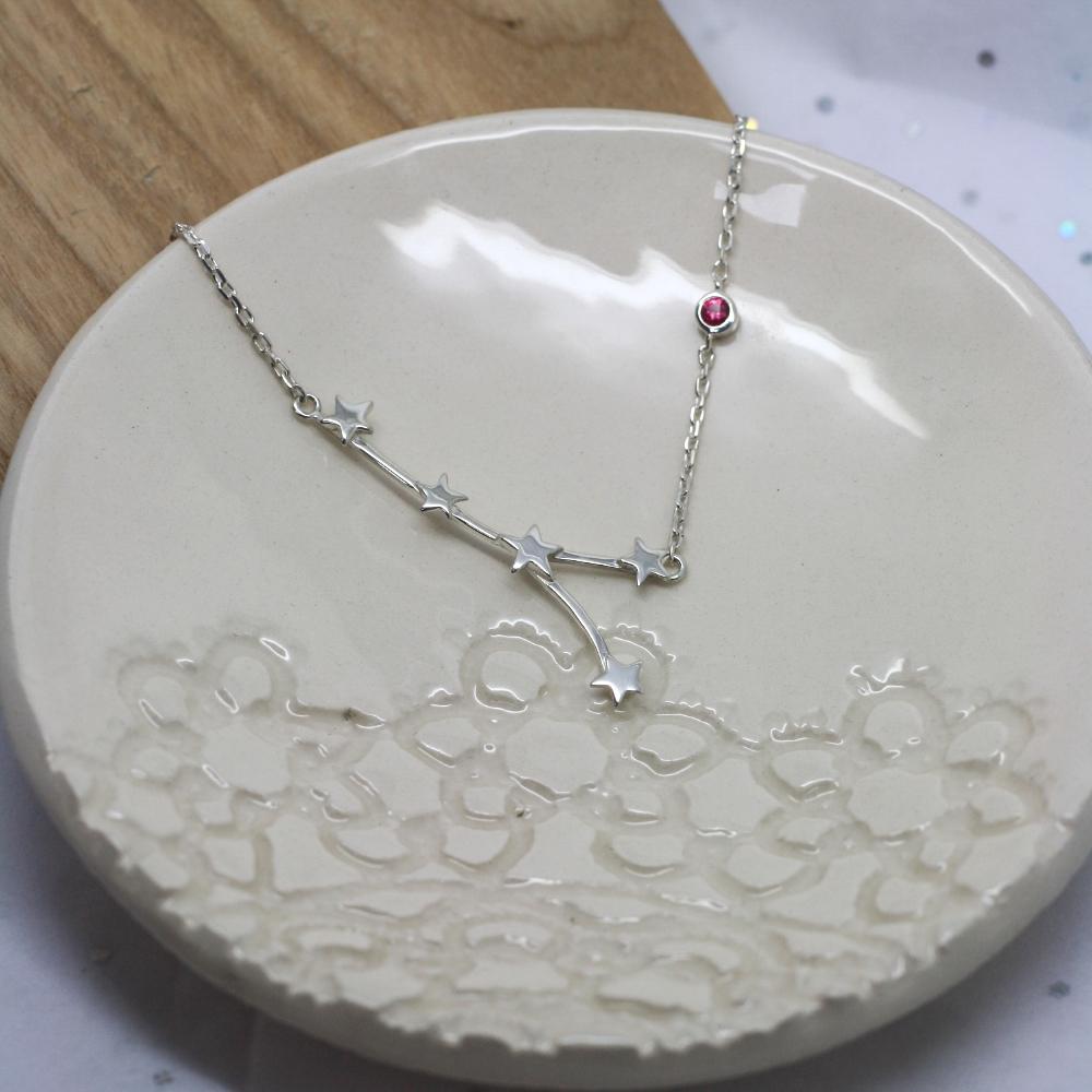 Handmade-Sterling-Silver-Cancer-Zodiac-Star-Constellation-Necklace-UK