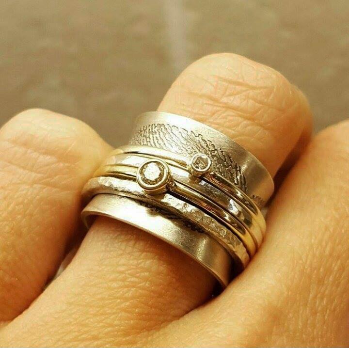 Handmade Bespoke Sterling Silver & Gold Meditation Ring by Lulu & Charles Handmade Jewellery uk