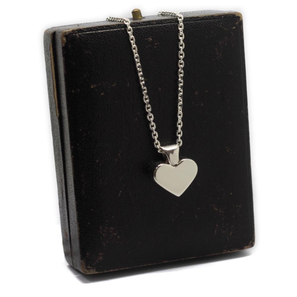 Handmade Silver Heart, Cremation Ash Pendant, Memorial Jewellery handmade in the UK, by Lulu & Charles Jewellery