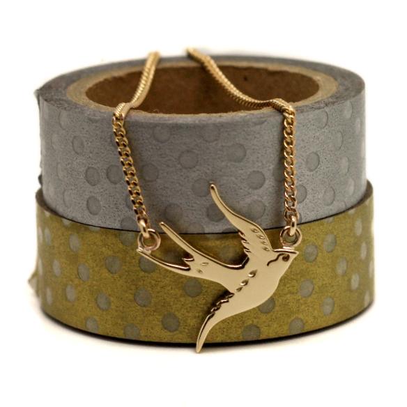 Handmade-9ct-Gold-Swallow-necklace-handmade-Jewellery-Durham-UK