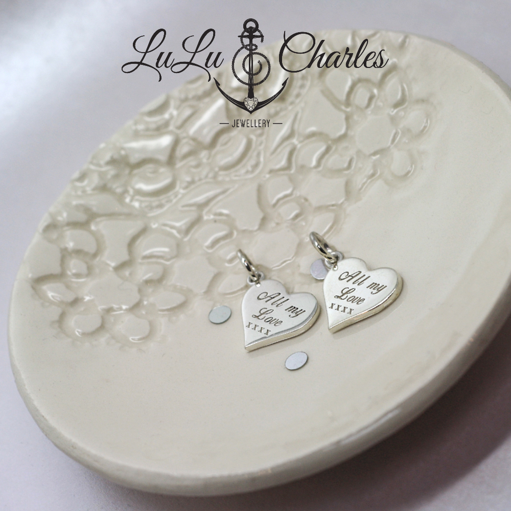 Handmade Personalised Sterling Silver Heart Pendant, Remodelled from Sentimental Silver by LuLu & Charles Jewellery