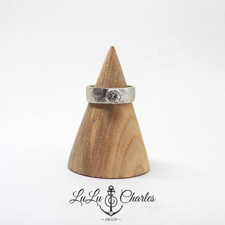 Bespoke handmade platinum and Diamond engagement ring by lulu & charles jewellery