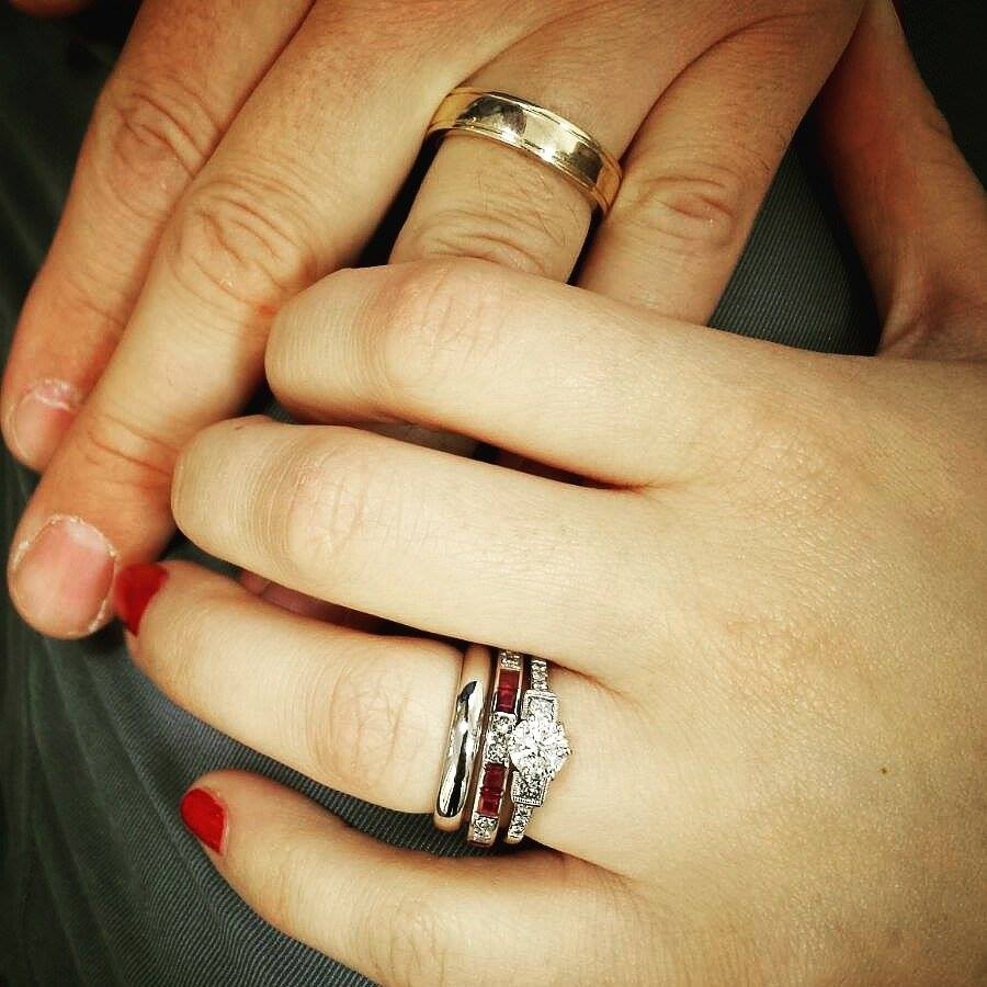 Handmade wedding rings, remodelled using own gold, handmade by Lulu & Charles Jewellery, County Durham, Newcastle.