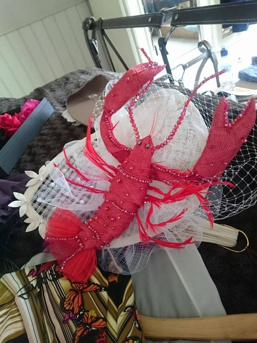 Lobster Hat by Elaine Monica Adams Humble from Dimesso Designs