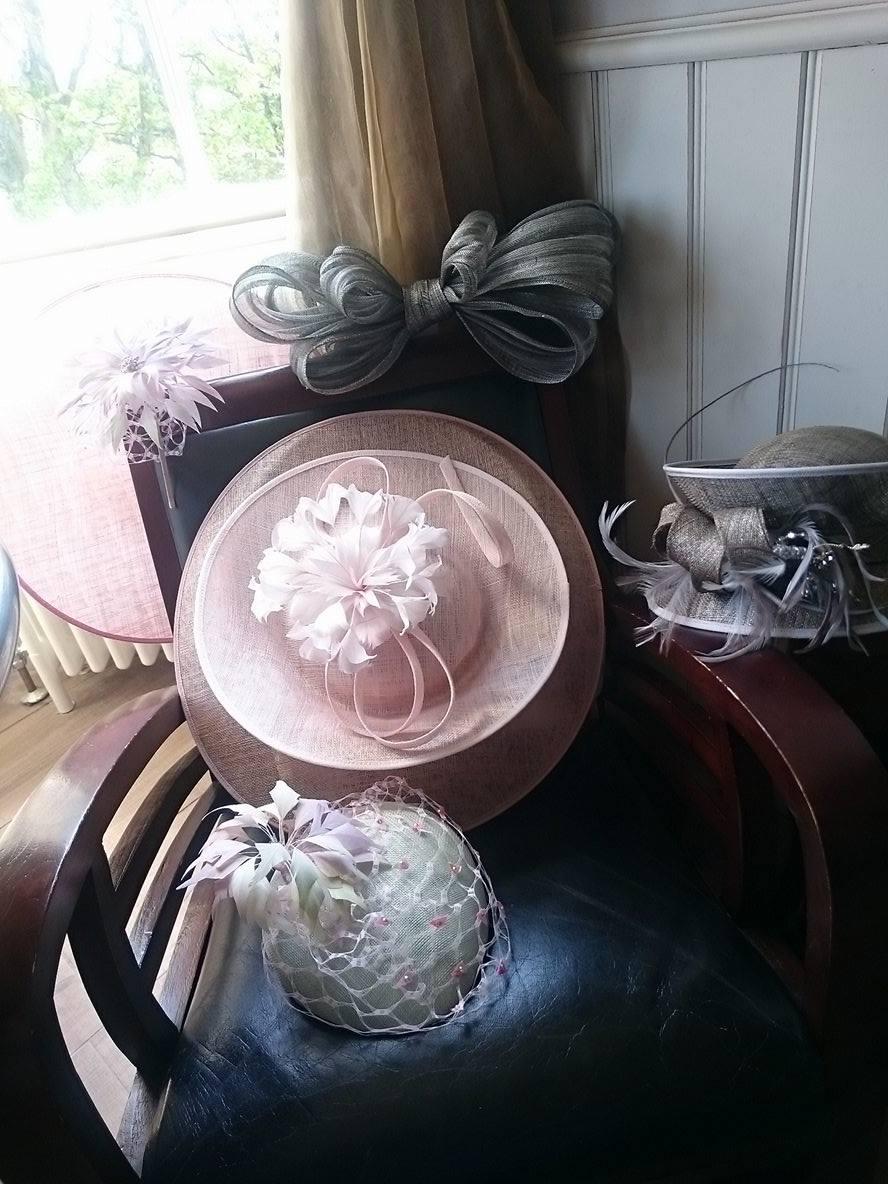 Hats at ladida photoshoot with lulu & charles jewellery, newton hall, northumberland