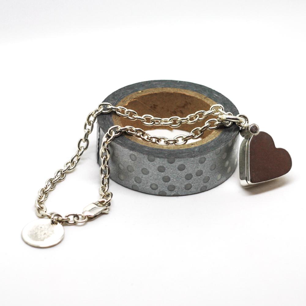 Handmade Silver Heart Shaped Photo Locket, handmade Bespoke Jewellery by Lulu & charles Jewellery County Durham England, UK.