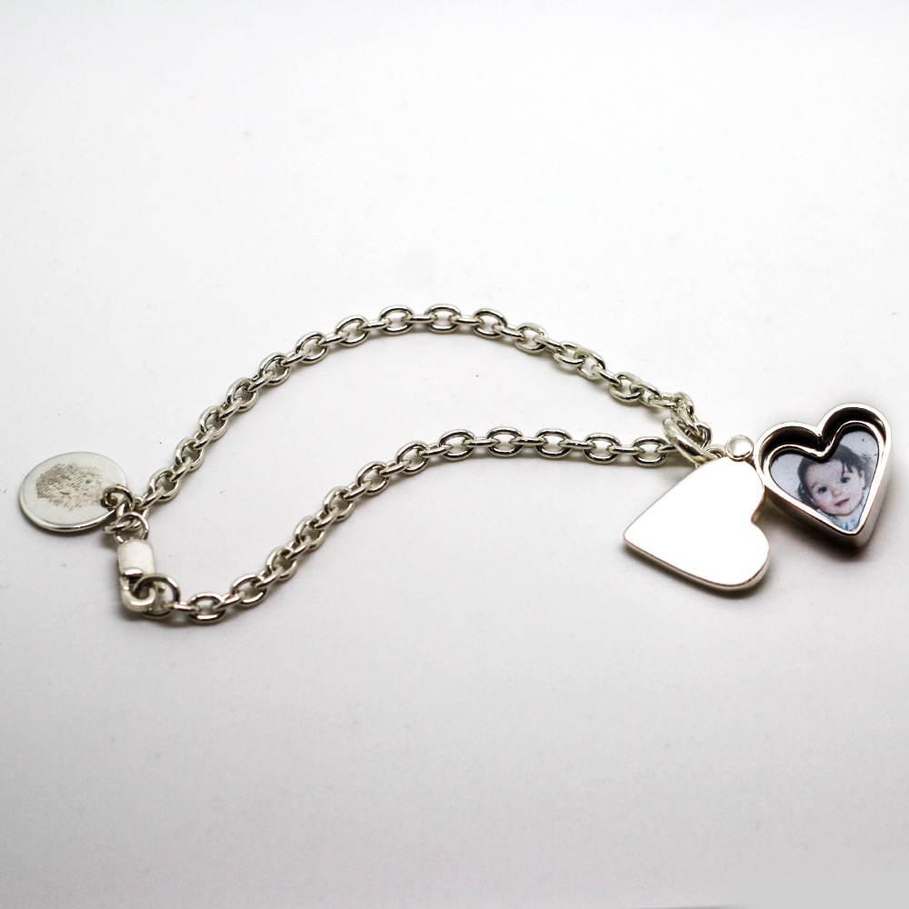 Handmade Argentium Silver Heart Shaped Photo Locket, by LuLu & Charles Jewellery, handmade bespoke Jewellery County Durham, Newcastle, Handmade bespoke jewellery uk