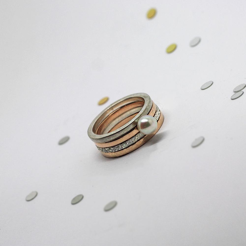 Handmade 9ct Rose Gold Stacker Rings & Sterling Silver Stacker Rings by Lulu & Charles Jewellery