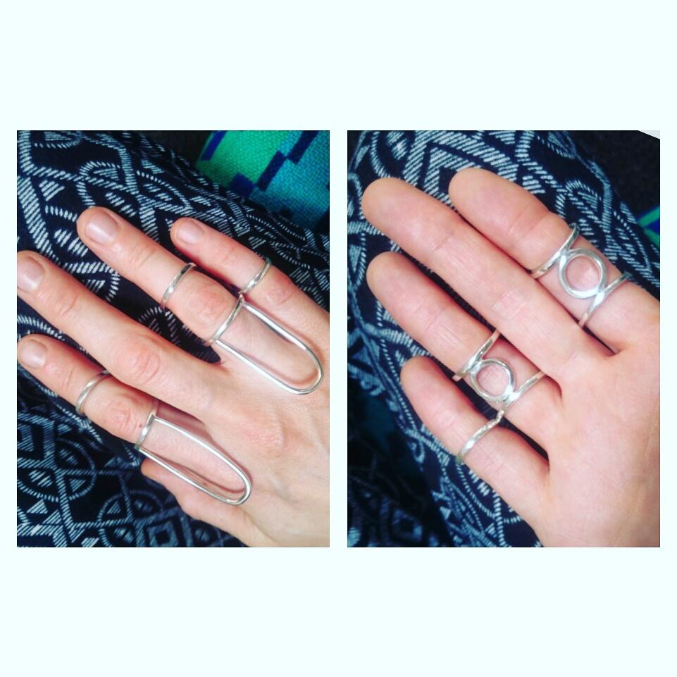 Handmade Bespoke Handmade Sterling Silver Hypomobility rings, Bespoke Handmade Sterling Silver Eds Ring Splints Newcastle, County Durham, Northeast England, uk by Lulu & Charles Jewellery