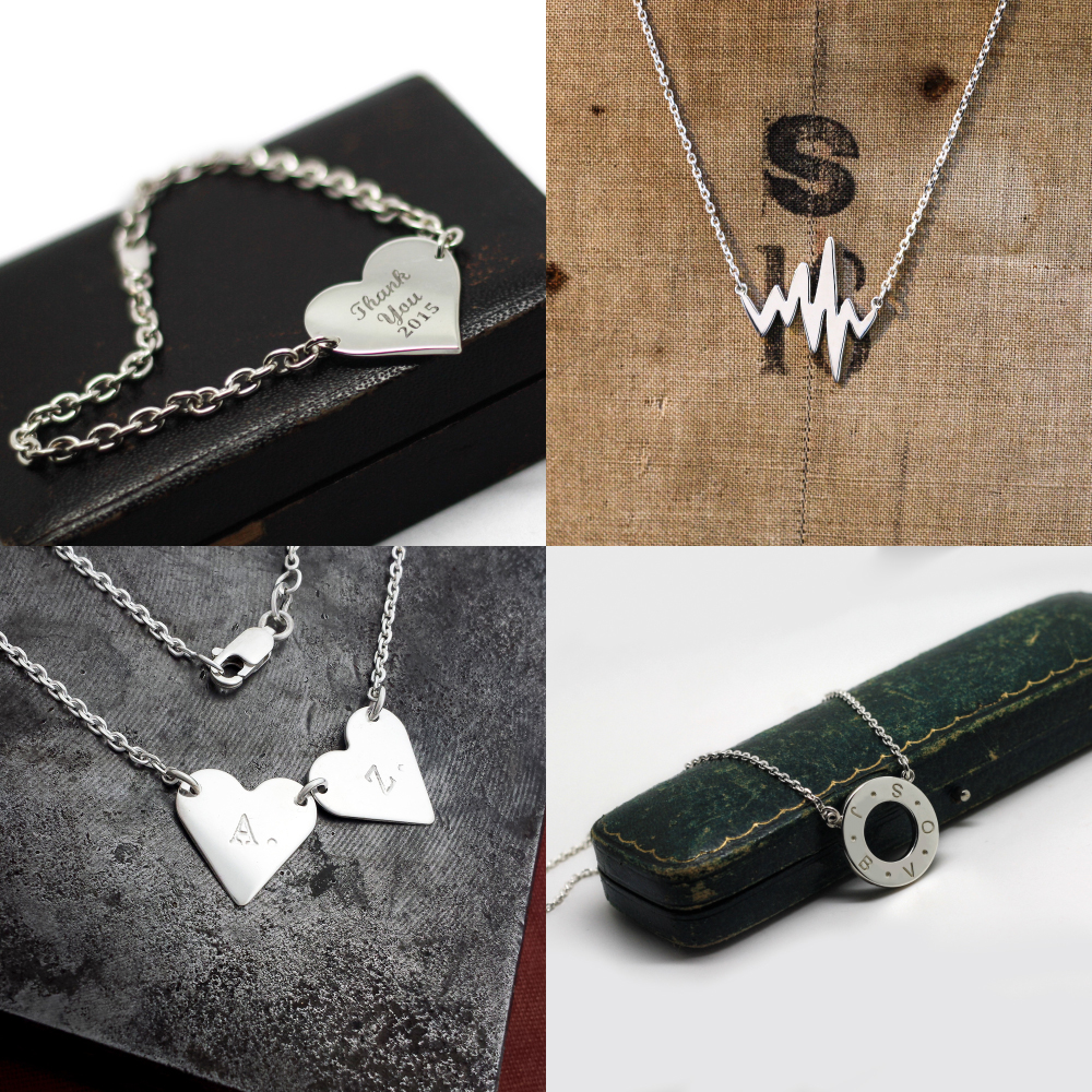 Handmade Personalised Jewellery, in Silver & Gold,individually designed and handmade in-house by Lulu & Charles Jewellery, County Durham, Newcastle, UK.