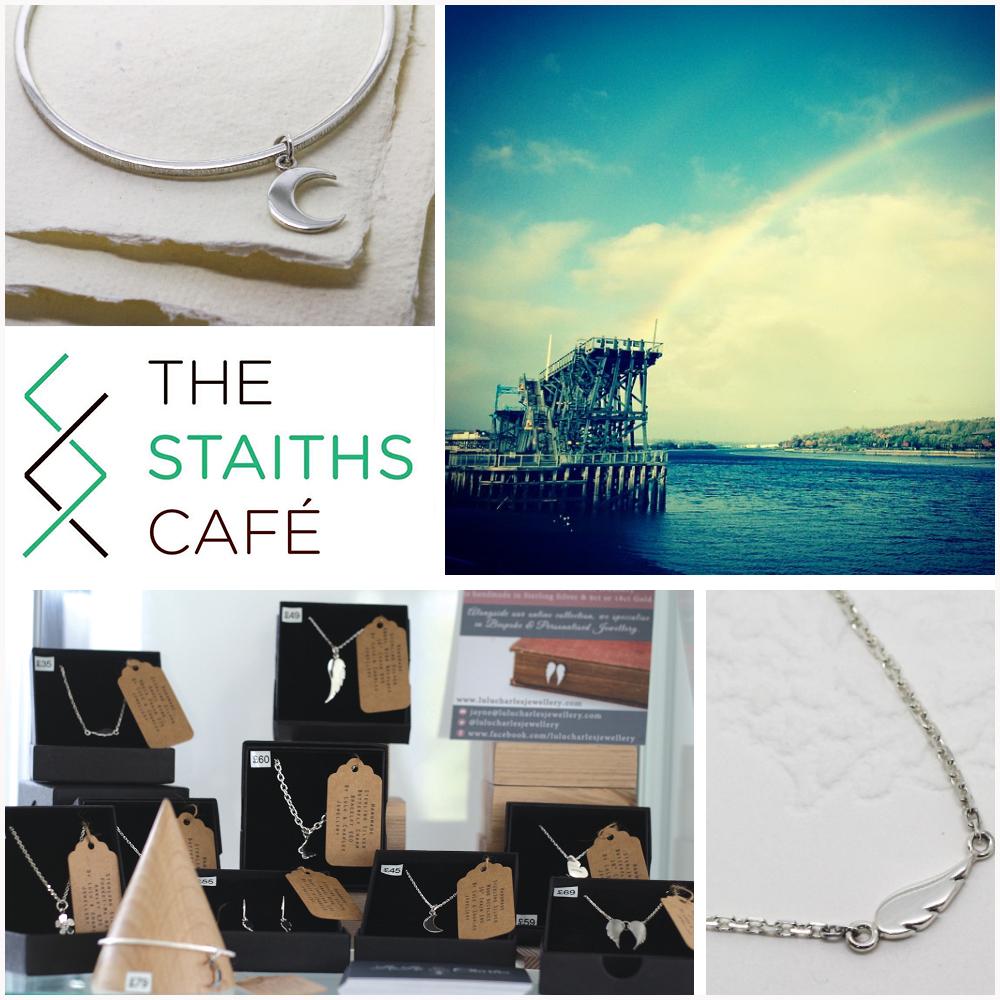 handmade bespoke silver jewellery by LuLu & Charles Jewellery stocked at The Staiths Cafe Bar, Gateshead Tyne & Wear.